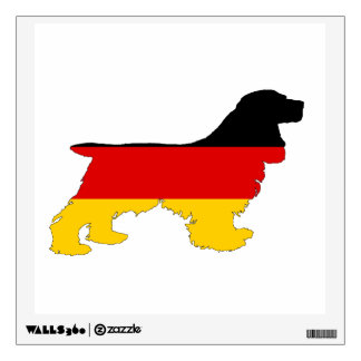 German Flag - Cocker Spaniel Wall Sticker