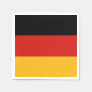 GERMAN FLAG COLORS + your ideas Disposable Napkins