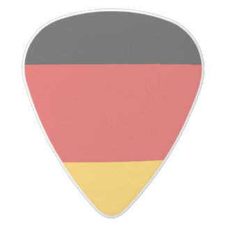 GERMAN FLAG COLORS + your ideas White Delrin Guitar Pick