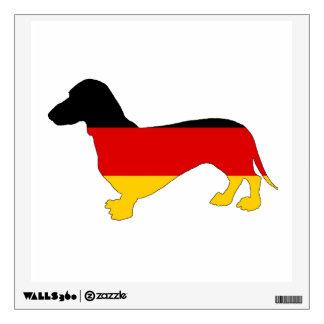 German Flag - Dachshund Wall Decal