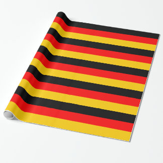 German Flag Deutsche Flagge Striped Wrapping Paper