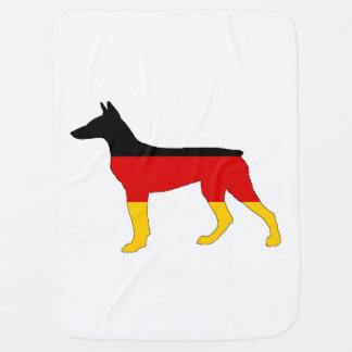 German Flag - Dobermann Pinscher Baby Blanket