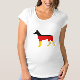 German Flag - Dobermann Pinscher Maternity T-Shirt