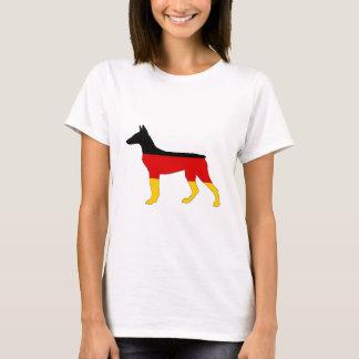 German Flag - Dobermann Pinscher T-Shirt
