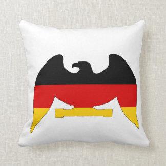 German Flag Eagle Throw Pillow