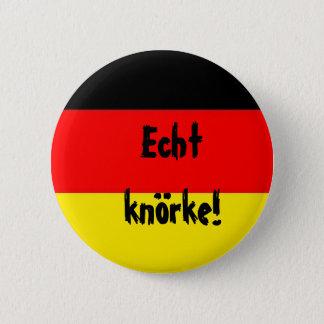 german_flag, Echt knörke! 2 Inch Round Button