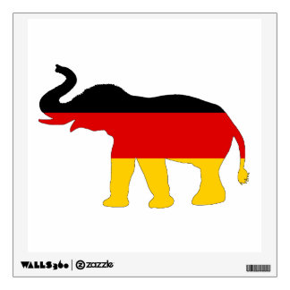 German Flag - Elephant Wall Decal