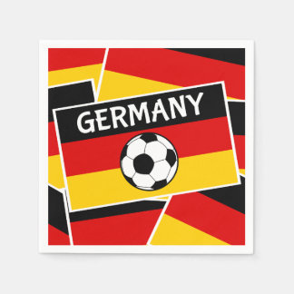 German Flag Football Disposable Napkins