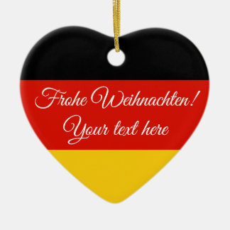 German flag Frohe Weihnachten Christmas ornament