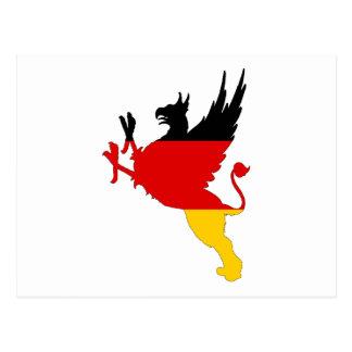 German Flag - Griffin Postcard