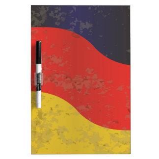 German Flag Grunge Dry Erase Board
