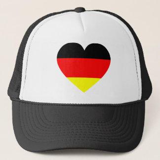 German Flag Heart Trucker Hat