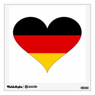 German Flag - Heart Wall Sticker