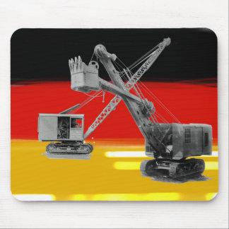 German Flag Heavy Equipment Crane Shovel Operator Mouse Pad