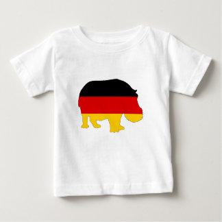 German Flag - Hippo Baby T-Shirt