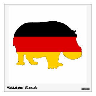 German Flag - Hippo Wall Sticker