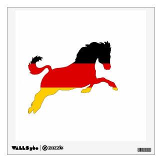 German Flag - Horse Wall Sticker