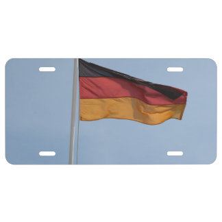 German flag in the wind license plate