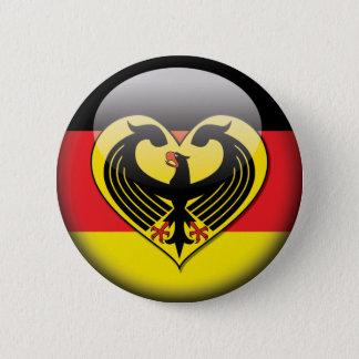 German Flag Love 2 Inch Round Button