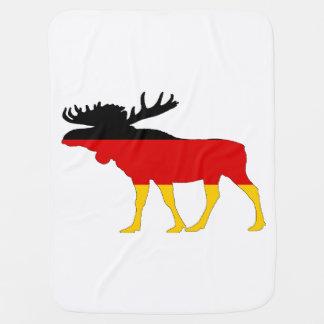 German Flag - Moose Baby Blanket