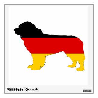German Flag - Newfoundland Dog Wall Decal