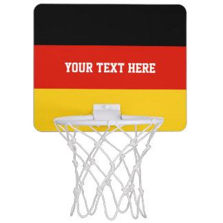 German flag of Germany custom Mini Basketball Hoop