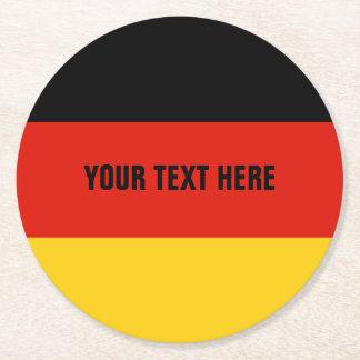 German flag of Germany paper drink coasters
