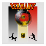 German flag of Germany soccer ball bicycle kick Poster