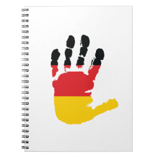 German Flag On A Hand Spiral Notebook