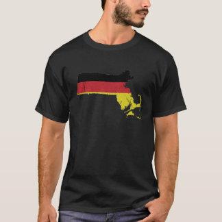 German Flag over Massachusetts T-Shirt