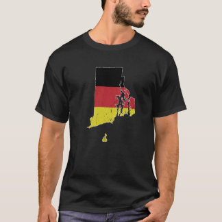 German Flag over Rhode Island T-Shirt