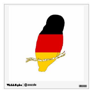 German Flag - Owl Wall Sticker