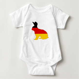 German Flag - Rabbit Baby Bodysuit