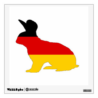 German Flag - Rabbit Wall Decal