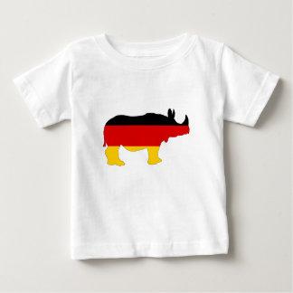 German Flag - Rhino Baby T-Shirt