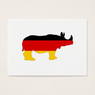 German Flag - Rhino Business Card