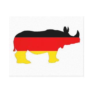 German Flag - Rhino Canvas Print