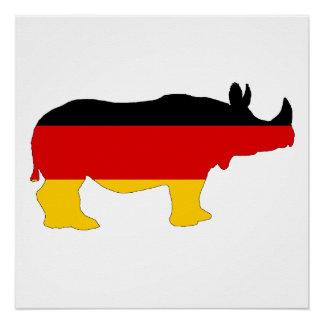 German Flag - Rhino Perfect Poster