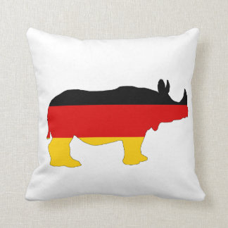 German Flag - Rhino Throw Pillow