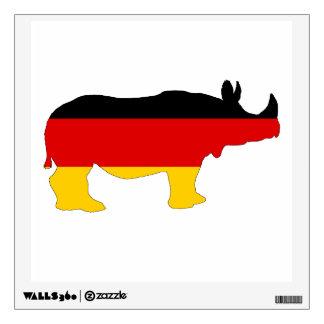 German Flag - Rhino Wall Sticker
