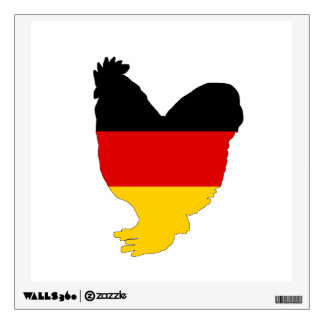 German Flag - Rooster Wall Sticker