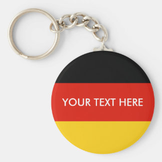 German flag round button keychain for Germany