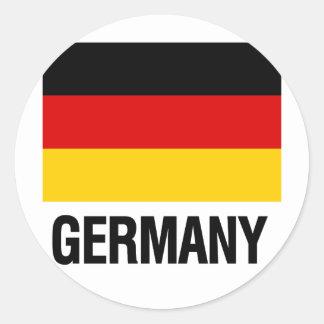 German Flag Round Sticker