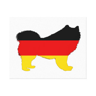 German Flag - Samoyed Canvas Print