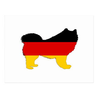 German Flag - Samoyed Postcard