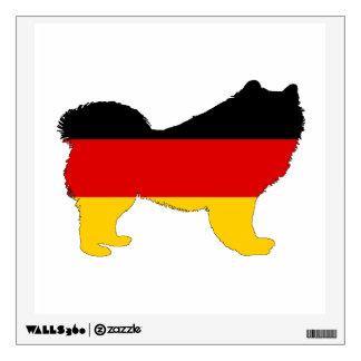 German Flag - Samoyed Wall Decal