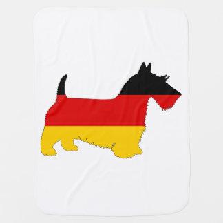 German Flag - Scottish terrier Baby Blanket
