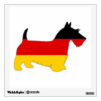 German Flag - Scottish terrier Wall Sticker