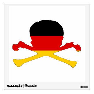 German Flag - Skull Wall Decal