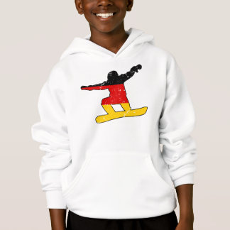 German flag SNOWBOARDER (blk)